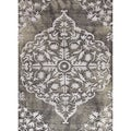 Hand-knotted Transitional Tone On Tone Gray/ Black Rug (8' x 11')