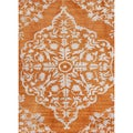 Hand-knotted Transitional Tone On Tone Red/ Orange Rug (8' x 11')