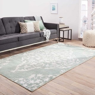 Hand-knotted Transitional Tone On Tone Pattern Blue Rug (5' x 8')