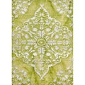 Hand-knotted Transitional Tone On Tone Pattern Green Rug (2' x 3')