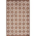 Contemporary Brown Geometric Pattern Rug (9' x 12')