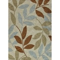Hand-tufted Transitional Abstract Pattern Brown Rug (2' x 3')