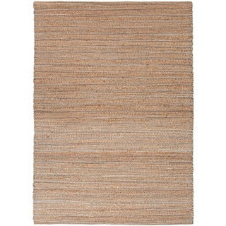 Handmade Naturals Blue Solid-pattern Area Rug (8' x 10')