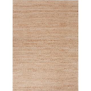 Handmade Naturals Solid Pattern Brown Rug (5' x 8')