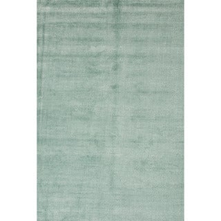 Hand-loomed Solid Pattern Blue Rug (8' x 10')