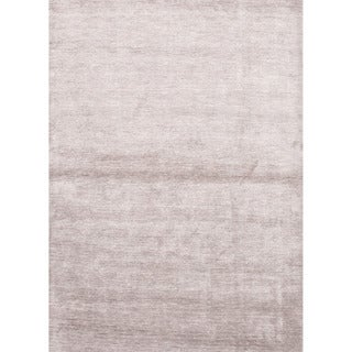 Hand-loomed Solid Pattern Gray Rug (9' x 13')