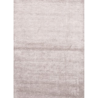 Hand-loomed Solid Pattern Grey Rug (8' x 10')