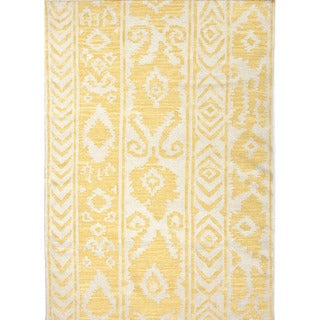 Handmade Flat Weave Tribal Pattern Yellow Rug (2' x 3')