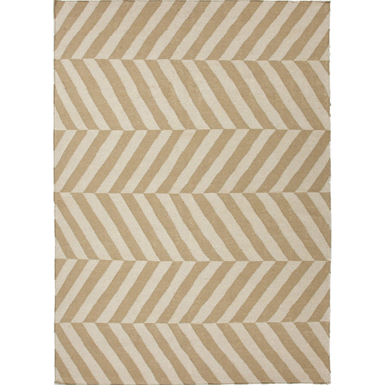 JRCPL Handmade Flat Weave Stripe Pattern Brown Rug (3'6 x 5'6) at Sears.com