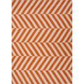 Handmade Flat Weave Stripe Pattern Red/ Orange Rug (2' x 3')
