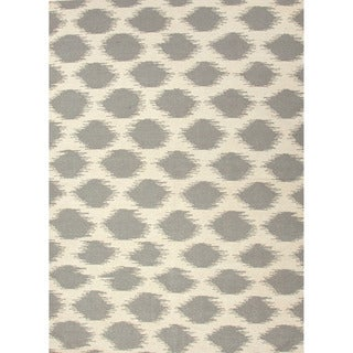 Handmade Flat Weave Tribal Pattern Grey/ White Rug (2' x 3')
