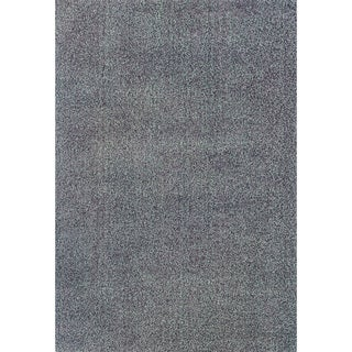 Modern Shag Light Blue/ Purple Polypropylene Rug (6'7 x 9'6)