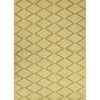 Hand-woven Solids Solid Pattern Green Rug (8' x 11')
