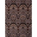 Hand-tufted Transitional arts/ Crafts Gray/ Black Rug (2' x 3')