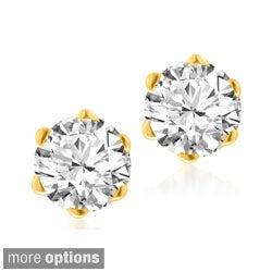 Bridal Symphony 14k Yellow Gold 1/4 to 1 1/2ct TDW 6-Prong Diamond Stud Earrings (I-J, I1-I2)