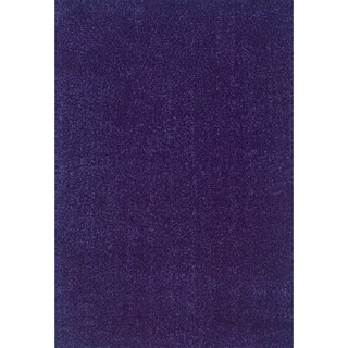 Modern Shag Blue/ Purple Polypropylene Rug (6'7 x 9'6)