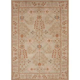 Hand-tufted Transitional arts/ Crafts Green Rug (3'6 x 5'6)