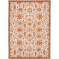 Hand-tufted Transitional Floral Pattern Brown Rug (8' x 11')