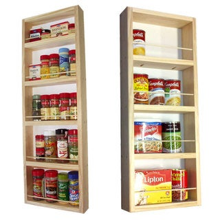 On the Wall Dual Depth Spice Rack Set 33/28