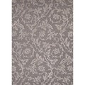 Hand-tufted Transitional Floral Pattern Grey Rug (8' x 11')