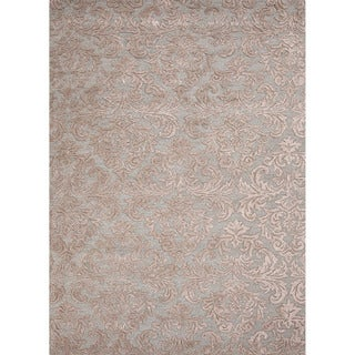 Hand-tufted Transitional Floral Pattern Blue Rug (5' x 8')