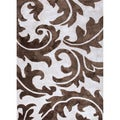 Hand-tufted Transitional Abstract Pattern Ivory Rug (5' x 8')