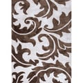 Hand-tufted Transitional Abstract Pattern Ivory Rug (8' x 11')