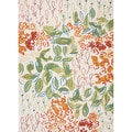 Hand-hooked Indoor/ Outdoor Floral Pattern Multi Rug (5' x 7'6)