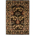 Hand-tufted Transitional Oriental Gray/ Black Rug with Plush Pile (8' x 11')