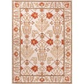 Hand-tufted Transitional Oriental Pattern Ivory Rug (8' x 11')