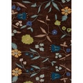 Hand-tufted Transitional Floral Pattern Brown Wool Rug (3'6'' x 5'6'')