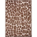 Hand-tufted Contemporary Animal print Brown Rug (3'6 x 5'6)