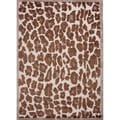 Hand-tufted Contemporary Animal print Pattern Brown Rug (5' x 8')