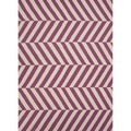 Handmade Reversible Flat Weave Stripe Pattern Pink/ Purple Rug (5' x 8')