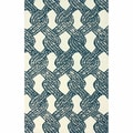 nuLOOM Handmade Contemporary Rope Tie Blue Rug (4' x 6')