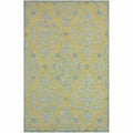 nuLOOM Handmade Transitional Damask Slate Wool Rug (4' x 6')