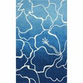 nuLOOM Handmade Modern Abstract Floral Wool/ Viscose Blue Rug (5' x 8')