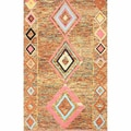 nuLOOM Handmade Looped Moroccan Wool Rug Multi (7'6 x 9'6)