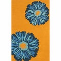 nuLOOM Handmade Contemporary Floral Orange Rug (7'6x9'6)