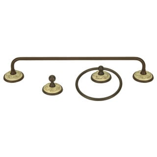 Ivory/ Bronze 3-piece Bathroom Accessory Set