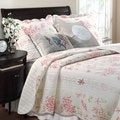 Coral Red 5-piece Bonus Quilt Set