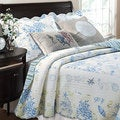 Coral Blue 5-piece Bonus Quilt Set