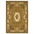 Domani Elegance Bronze and Ivory Aubusson Rug (2'3 x 3'3)