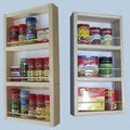 On-the-Wall Dual-depth 21 and 21 Spice Rack Set