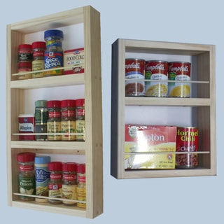 On-the-Wall Dual-depth 21 and 14 Spice Rack Set