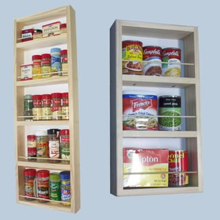 On-the-Wall Dual-depth 33 and 21 Spice Rack Set