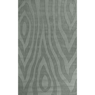 Domani Symmetry Wood Grains Ocean Wool Rug (8' x 10')