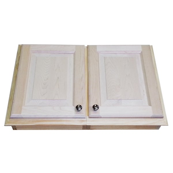 Recessed Dual-mount 18-inch Double Door Baldwin Medicine Storage Cabinet