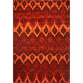 Domani Passport Flames in Sienna Rug (5'3 x 7'8)