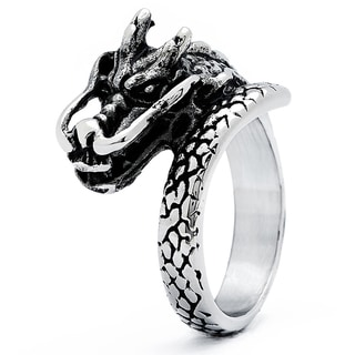 Stainless Steel Men's Dragon Head Cast Ring